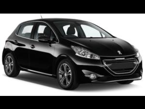 Mietwagen Fuerteventura - Peugeot 208. Autovermietung Red Line Rent a Car.